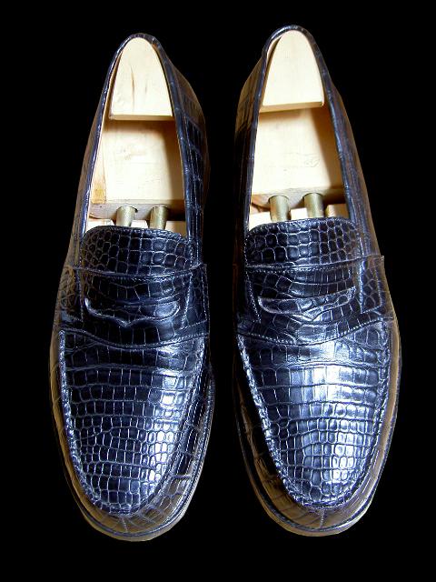 chaussures Weston crocodile